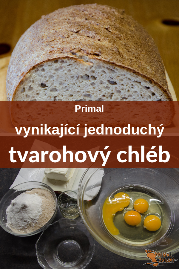 tvarohový chleba pin