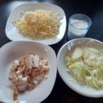 sýrovo smetanové kapustičky - suroviny