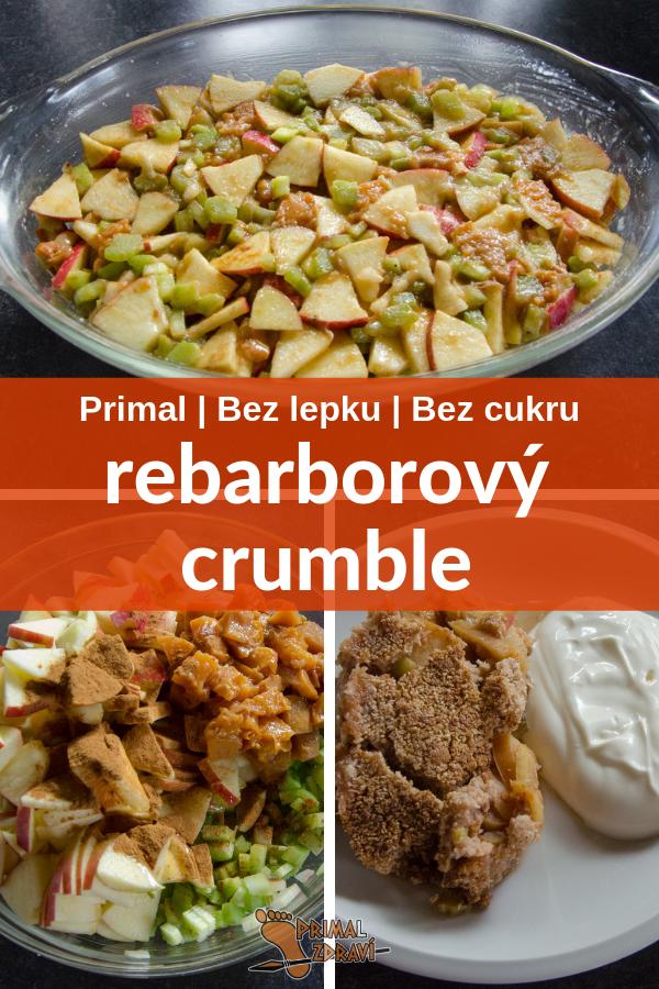 rebarborový crumble